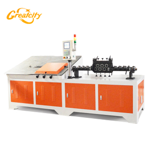 Machine de pliage d'angle industriel de fil d'acier CNC 2D automatique